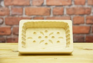 Oblong large butter mould - 4 patterns (0.25 kg)