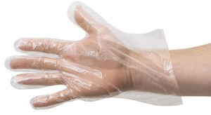 Disposable gloves from polyethylene (100 pieces)
